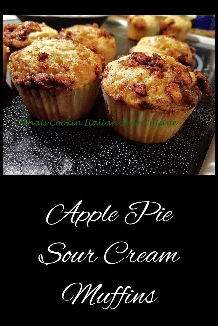 Apple Pie Sour Cream Muffin Recipe Sour Cream Muffins Sour Cream Recipes Apple Muffin Recipes