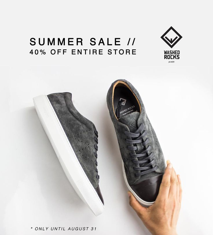 The Summer Sale ☀️ is now available in each shoe. So you get a 40% discount in each pair you buy instead of in the final purchase. Grab this chance while you can, cause the sale is ending at August 31. 💣 To shop follow our link in the bio: wrocksfootwear.com 🌐 #summersale #sale #washedrocks #wrocksfootwear #40percentoff #buyonline #shoponline #sneakersaddict #sneakerfreak #sneakersforsale #sneakerscommunity #boots #bootswag #shopnow #discount #sales #greatness #springsummer2017…