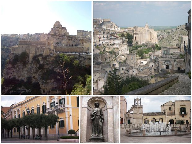 Matera in Basilicata Matera with its Cave dwellings  and churches. Wonderful landscapes that early changed since the start of our those mountains were the habitat of shepherds and there herds. Many films were made here, f.i. The Passion of the Christ.