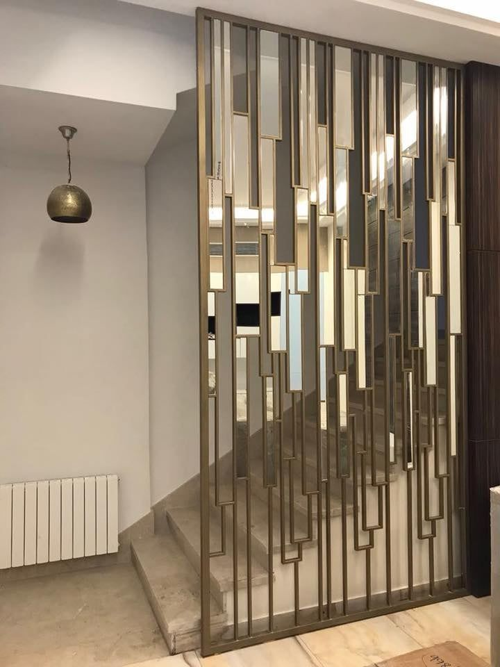 Metal Screen Living Room Partition Design Wall Partition Design Foyer Design