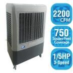 2,200 CFM 3-Speed Portable Evaporative Cooler for 750 sq. ft., White/Grey