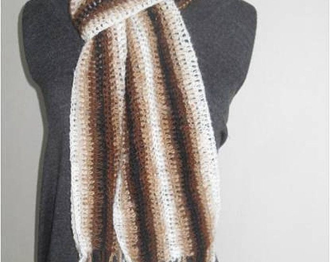 Striped Alpaca Scarf