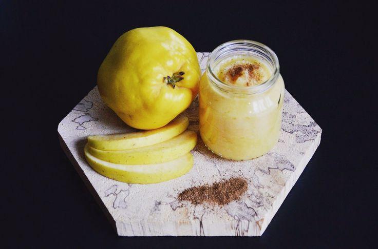 Recette de compote pomme coing et pincée de cannelle (Dès 4 ou 6 mois), un petit délice dans un petit pot, un peu d'acidité, avec le sucré de la pomme, un régal !