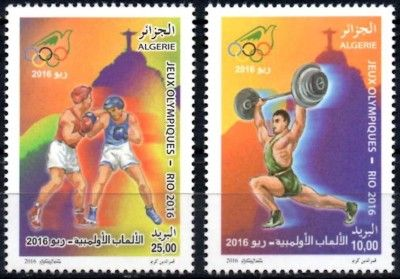 Algeria Rio 2016 Olympic stamps