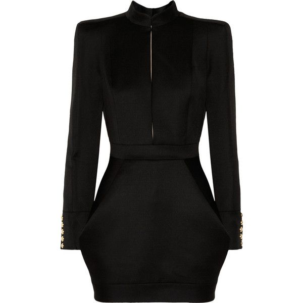 Balmain Wool-twill mini dress found on Polyvore