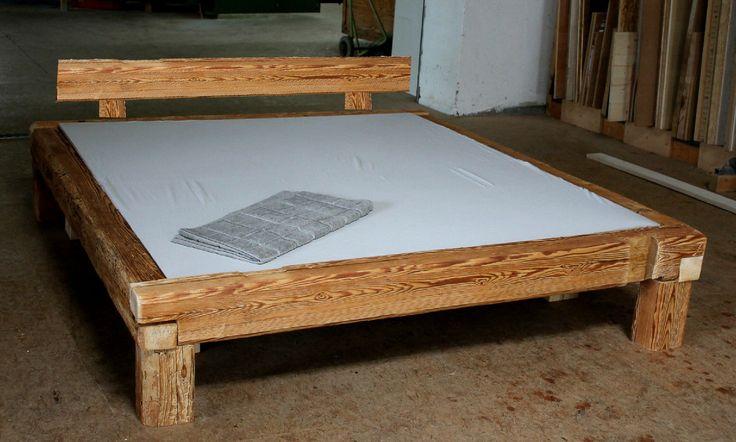 Bett alte Holzbalken von uralter Mühle, Altholz, Balken, Bausatz, Balkenbett | eBay