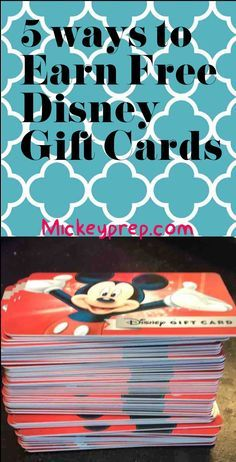 5 Ways to Earn Free Disney Gift Cards -