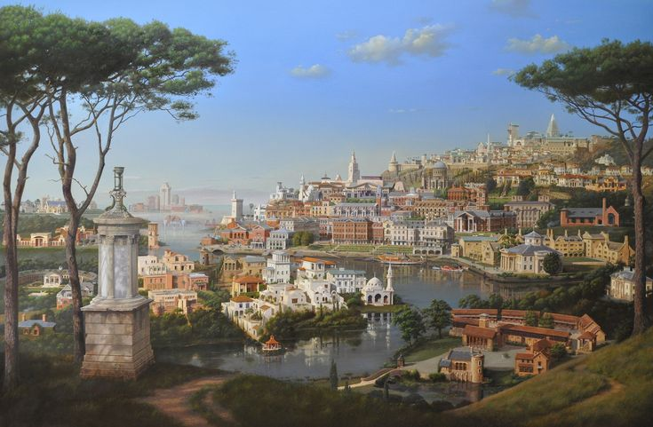 A Classical Perspective, 165×250cm, oil on canvas, 2012 by Carl Laubin.