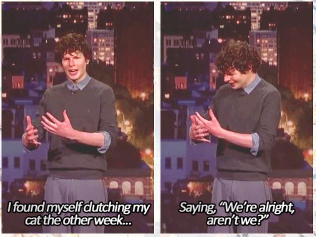 On cats: | 24 Times Simon Amstell Was Too True And Too Funny