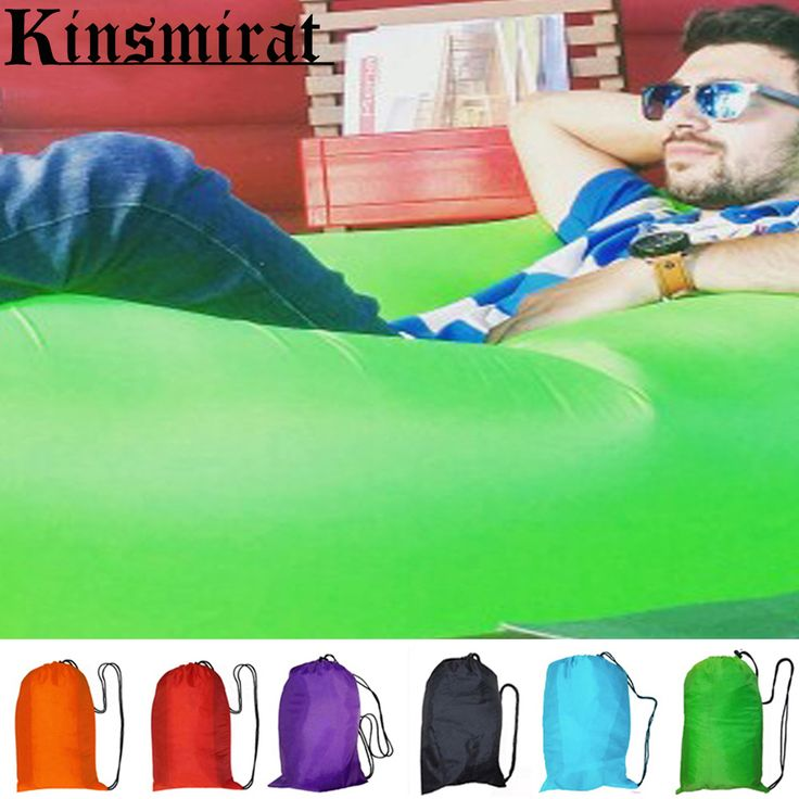 Sleeping bag air sofa inflatable lazy bag laybag outdoor flocking inflatable Sleeping Beach Banana Lounge Bag Air Bed Lounger