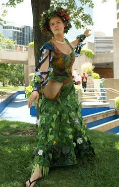 DIY Mother Nature Costume- easy no-sew! (great way to try out all ...