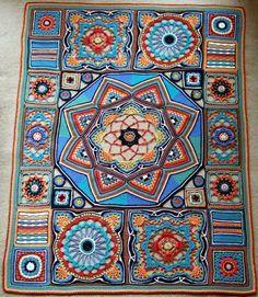 crochet mandala free pattern - Google keresés