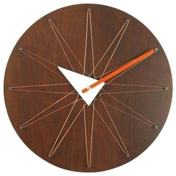 George Nelson Copper Wire Clock - White Hour - modern - clocks - Hayneedle