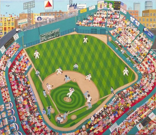 """""""Fenway Park"""" by Paul Alexandre John   http://www.paulalexandrejohn.com/images/artwork/baseball/fenwaypark.jpg"""