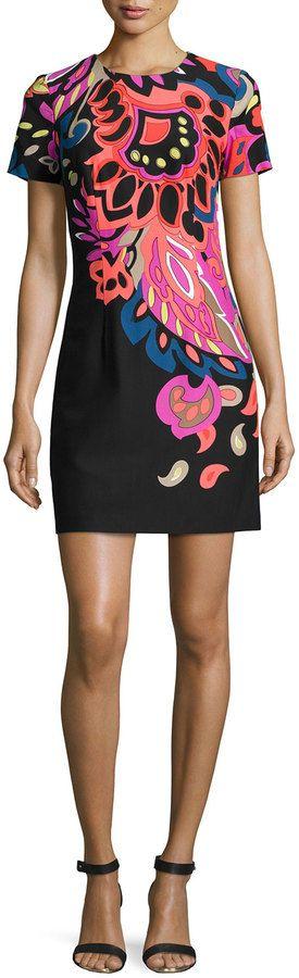 Trina Turk Floral-Print Sheath Dress
