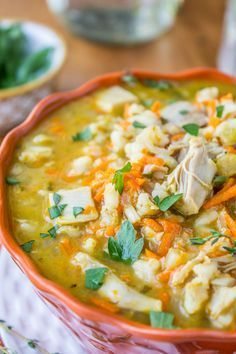 Slow Cooker Turkey Barley Soup | Is there anything better than turkey soup from Thanksgiving leftovers?