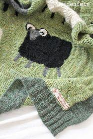 Schaf decke häkeln - sheep crochet