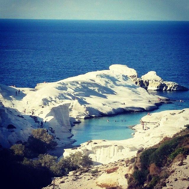 Sarakiniko beach or moon beach , at Milos island (Μήλος) . Wonderful place !
