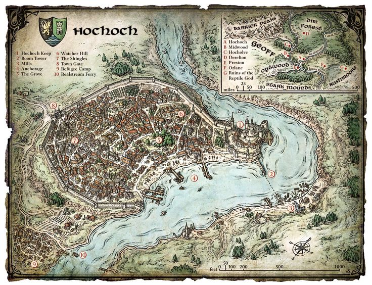 Fantasy City Map Generator on