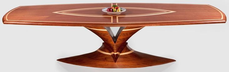 Kimchi Designs   Custom Made Dining Table. Mahogany And Maple Wood. Top Has  Intricate