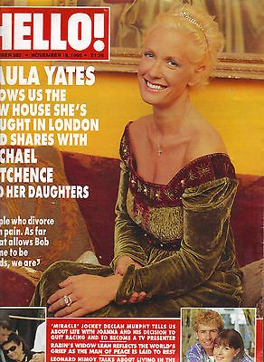 PAULA YATES UK Hello Magazine 11/18/95 #382 MICHAEL HUTCHENCE BOB GELDOF INXS