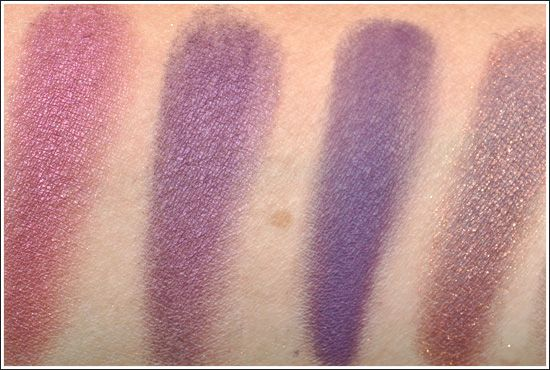 M.A.C. Purples: Plum Dressing, Nocturnelle, Fig. 1, Trax (want plum dressing and fig 1)