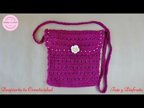 Bolso a Crochet, paso a paso - YouTube