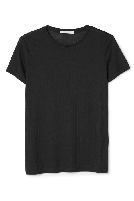 Weekday Abigail Tee in Black