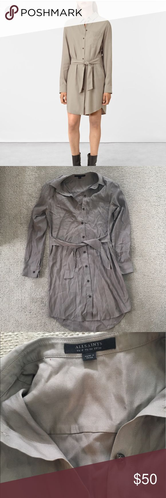 All Saints Jules Shirt Dress Like new. From last season. Runs a little big All Saints Dresses