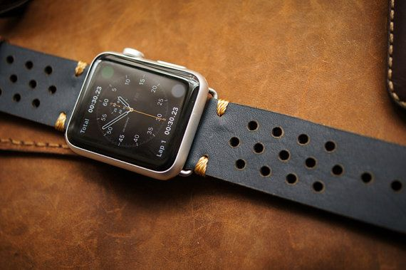 Handmade Vintage Leather Strap Rally Racing by BlackForestAtelier