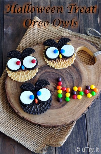 How to DIY Halloween Treats -  Oreo Owls  http://uTry.it