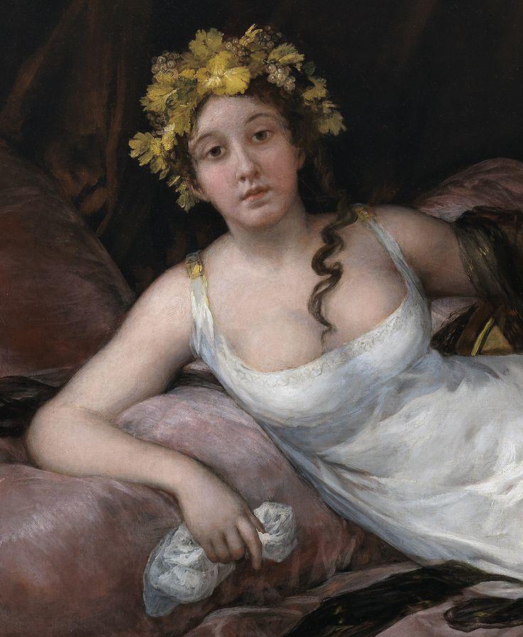 """Francisco de Goya: """"Joaquina Téllez-Girón y Pimentel, marquesa de Santa Cruz"""" (detail). Museo Nacional del Prado, Madrid, Spain"""