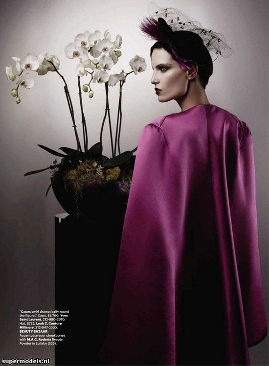 Iris Strubegger as 'The Most Stylish & Wicked Woman in Fashion' - Photographed by Karl Lagerfeld (Harper's Bazaar US September 2010)