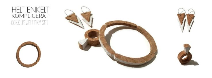 Picture- cork jewellry set