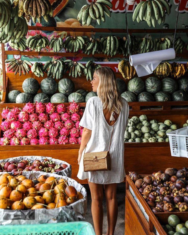 All fresh produce at a local farmers market.