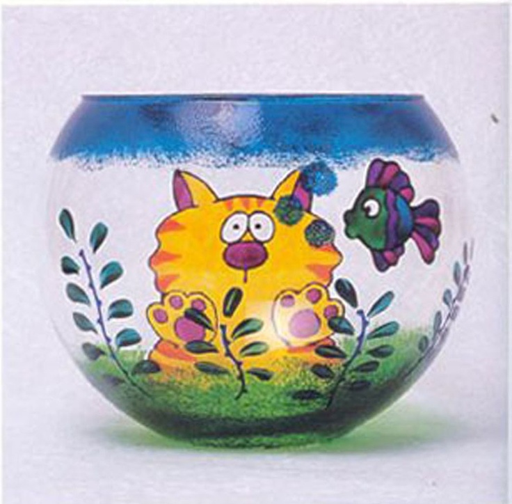 Top 25 ideas about painted glass on pinterest how to for Painted glass fish