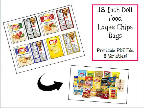 Make your own doll-sized Lays chip bags! PDF printable, 3 ...