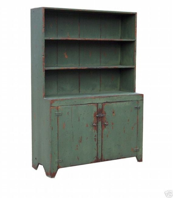 Farmhouse furniture step back hutch primitive by JosephSpinaleFurn, $1650.00 (I'd love a shabby, rustic, Primitive kitchen or home. Full of handmade things)