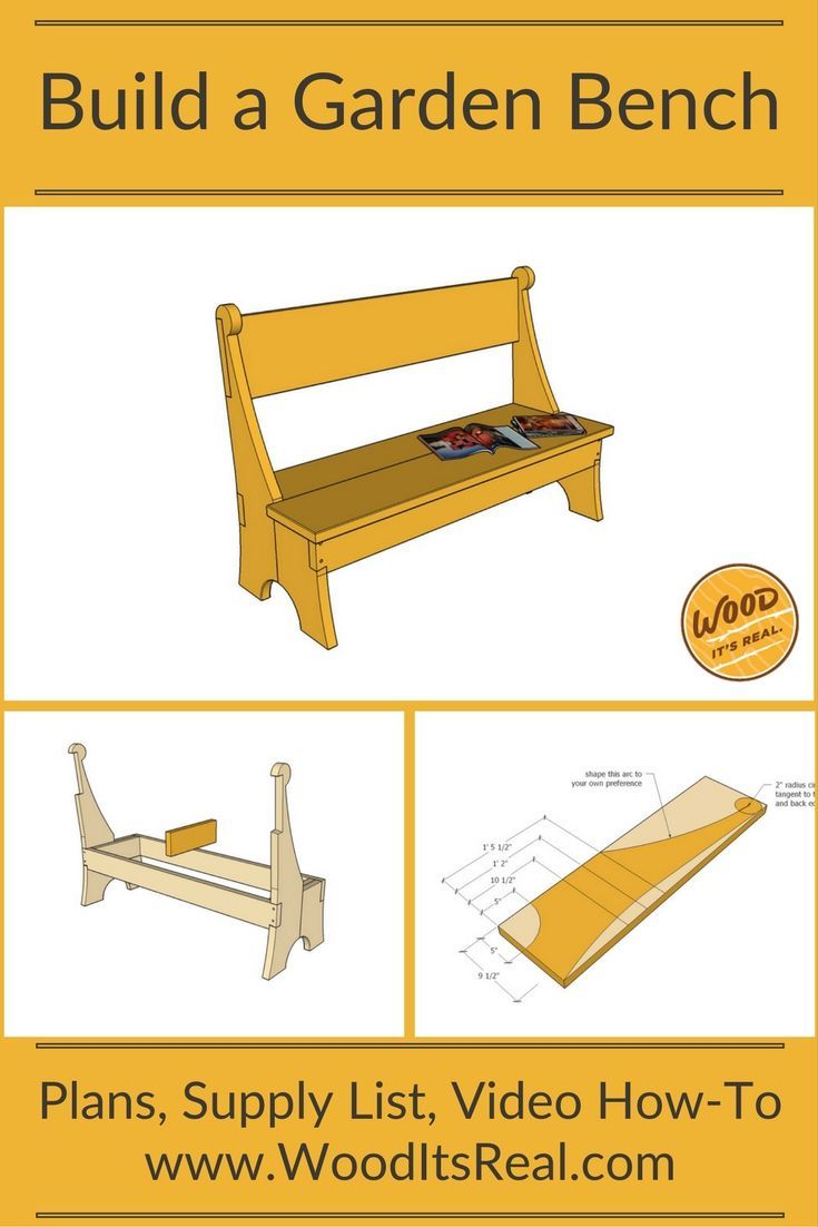 Terrific Free Plans Southern Yellow Pine Garden Bench Video Step Ncnpc Chair Design For Home Ncnpcorg