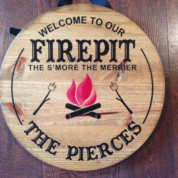 The S'more The Merrier Rustic Firepit Sign by AnniesBarn on Etsy