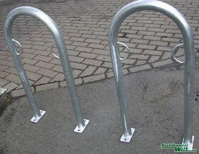 2 Stück Fahrrad Ständer Anlehn Parker Anlehnparker Anlehnbügel Fahrräder kaufen bei Hood.de
