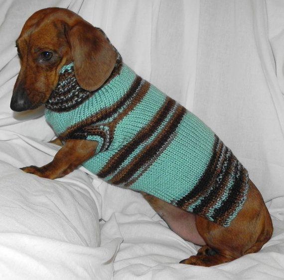 SO FRICKIN CUTE!! Miniature DACHSHUND Turtleneck Sweater SAGE by DachshundSweaters, $21.99