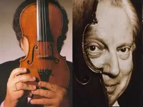 Itzhak Perlman plays Bach Double with Isaac Stern- my favorite piece of music ever, played by the two greatest violinists ever.