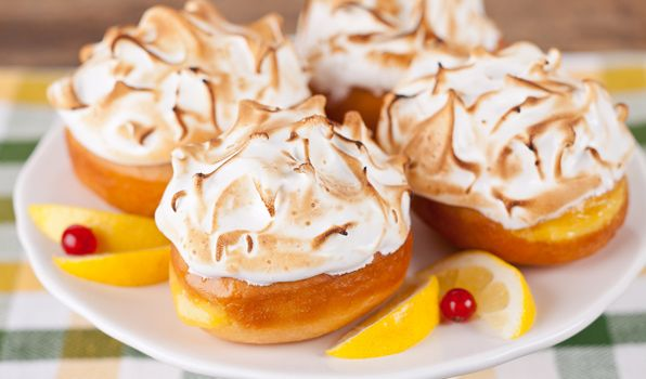 Lemon Meringue Donuts - In the Kitchen with Stefano Faita