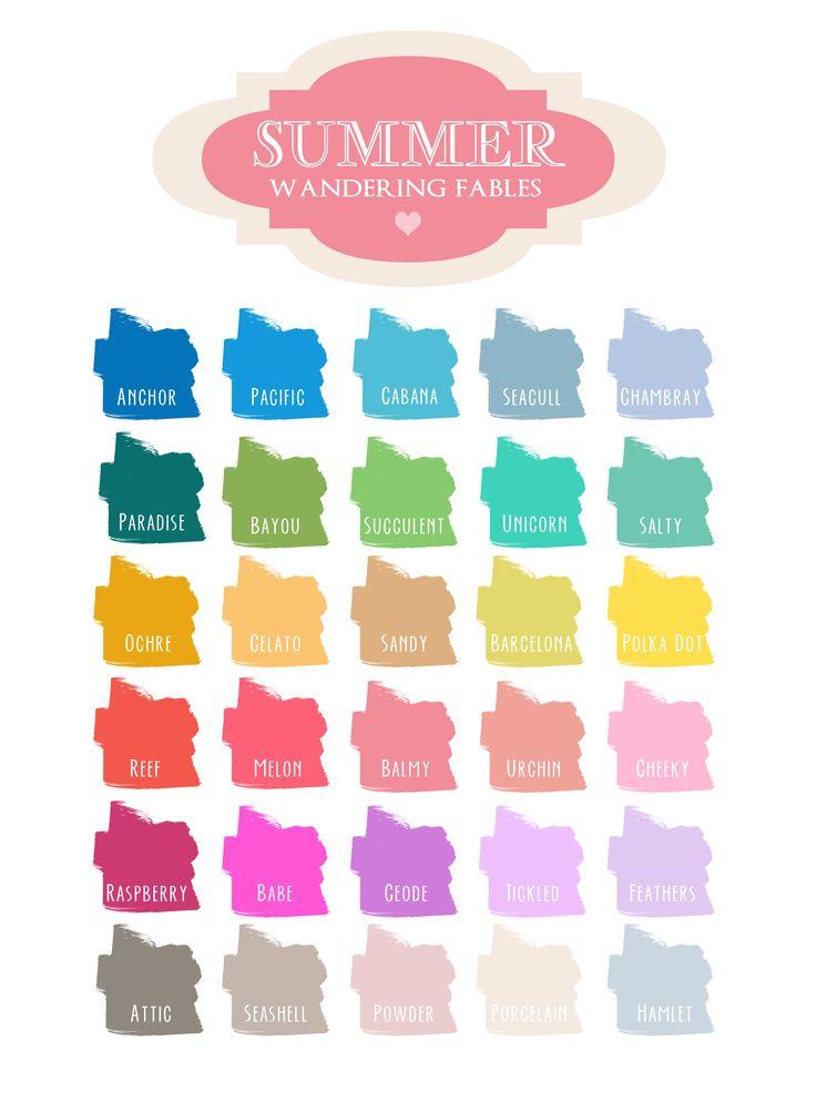 37 best images about spring summer color trends on for Summer wedding color palette