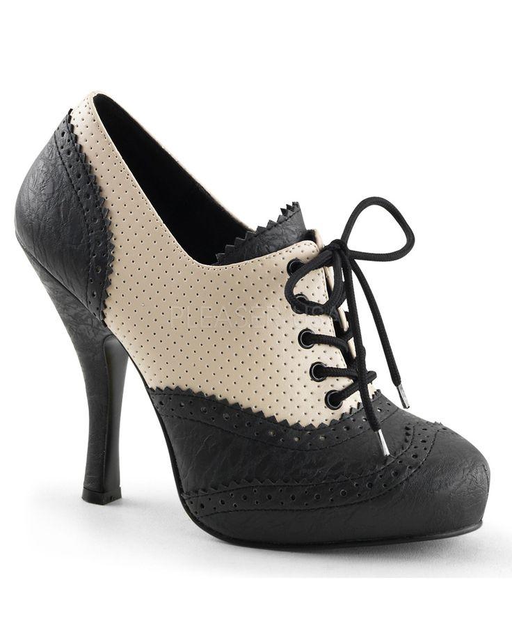 Tan & Black Oxford Heel