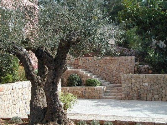 Mediterraner Garten Mediterraner garten, Mediterran und Mallorca - steinmauer garten mediterran