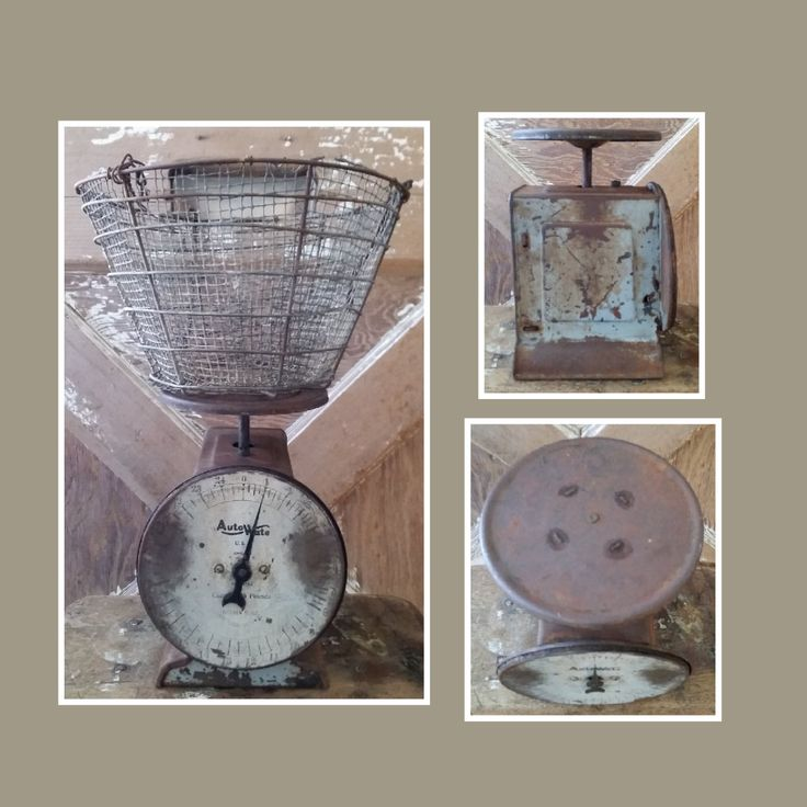 Vintage Rustic Auto Wate Kitchen Scale. Metal scale, primitive scale, rustic home decor, measuring tool, kitchen decor, antique scale by LoveTheJunk on Etsy