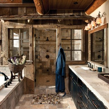 Rustic Home Exterior Home Design Ideas, Pictures, Remodel And Decor