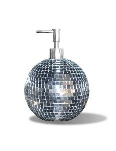 Disco ball lotion (or soap) dispenser- #bling for your #bath or bedroom! Buy: http://www.amazon.com/gp/product/B001O3M2PS/ref=as_li_tl?ie=UTF8&camp=1789&creative=390957&creativeASIN=B001O3M2PS&linkCode=as2&tag=futurerockstar-20&linkId=JJGWHR55CP3MY43K: